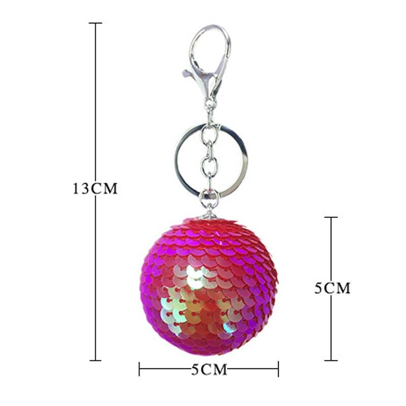 096d36dabe US $0.99 39% OFF|Fancy&Fantasy New Round Ball Sequin Handmade Keychain  Women Valentine's Day Gift Bag Key Chain Accessories Llaveros para mujer  -in ...