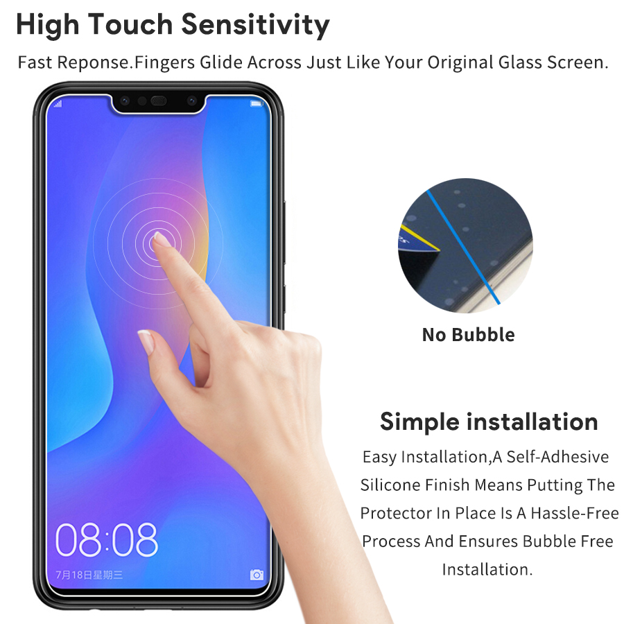 0 26mm 9H Hardness Protector Glass For Huawei Mate 20 P20 Lite Tempered  Glass Huawei Honor 8X Max P Smart Plus Tempered Glass