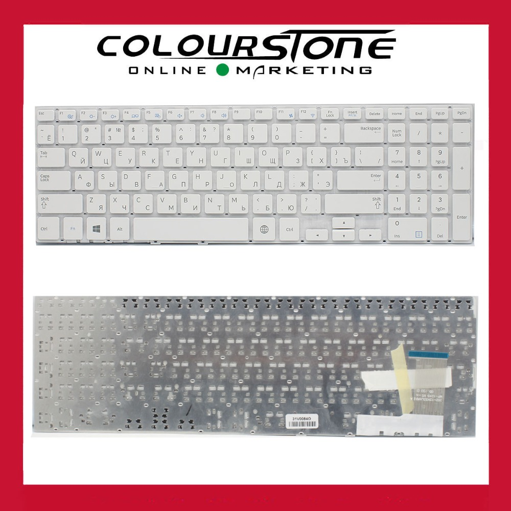 Genuine NEW For Samsung 370R5E NP370R5E 510R5E NP510R5E Keyboard Russian White 002-12K53LHA02