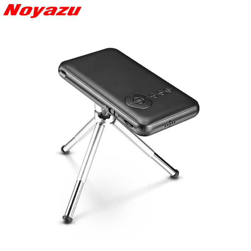 Noyazu 5000 mAh Mini proyector de bolsillo WiFi Bluetooth DLP Full HD Digital teléfono inteligente portátil teatro casero