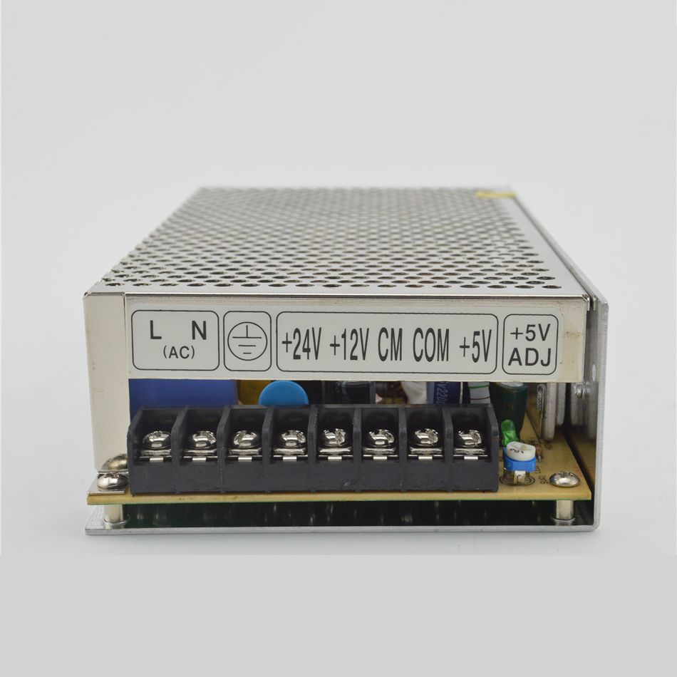 ФОТО ac to dc 100w 5V15V-5V T-100A quality triple three outputs  CE certificate silver led driver source switching power supply volt
