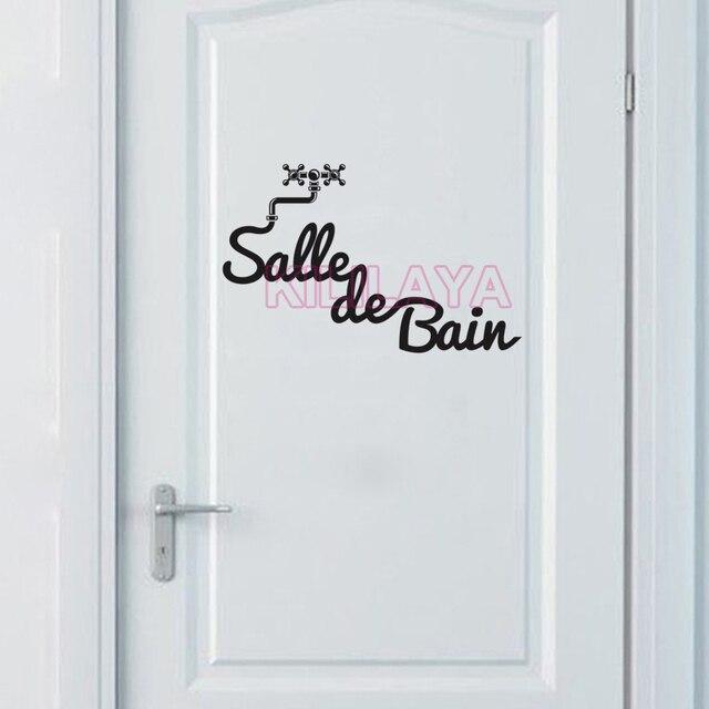Franse Salle de Bain Stickers Vinyl Muursticker voor Badkamer Mural ...