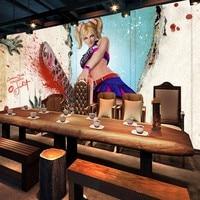 Custom 3d wallpaper 3D Horror Sexy Saw Beauty Background Wall wallpaper mural entertainment restaurant decoration