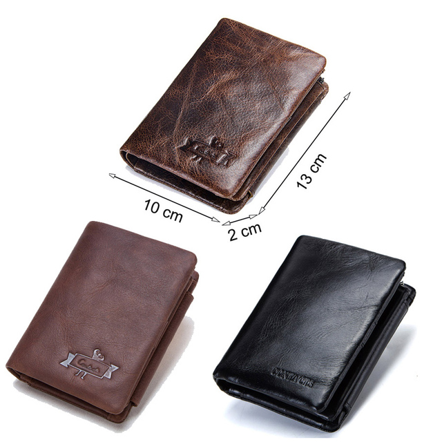 genuine leather men wallet with coin pocket vintage hasp mens wallets with card holder luxury brand short zip coin purse for men 5