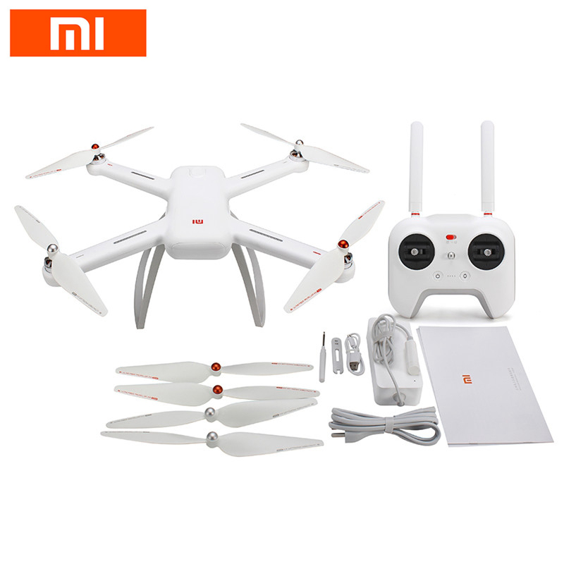 In Stock Original Xiaomi Mi Drone WIFI FPV RC Quadcopter w/ 1080P 4K Version 30fps HD Camera 3-Axis Gimbal GPS App RC Drone RTF yuneec typhoon h 5 8g fpv drone with realsense module cgo3 4k camera 3 axis gimbal 7 inch touchscreen rc hexacopter rtf