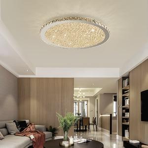 Image 3 - Cristal, luminaire dintérieur en acier inoxydable, éclairage à intensité réglable, luminaire décoratif de plafond, idéal pour un salon ou une chambre à coucher, plafond moderne à LEDs