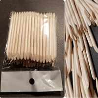 50/ 100 Pieces Orange Wood Sticks Double-sided Nail Art Cuticle Sticks for Pusher Remover Manicure Pedicure Tools, (2.95 Inches)