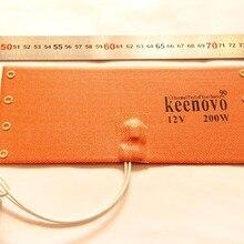 KEENOVO силиконовая грелка WVO SVO дизельный топливный фильтр нагреватель NOS подогреватель бутылки 100X235 мм 12 В 200 Вт W/термостат 90C