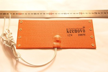 KEENOVO Silicone Heating Pad WVO SVO Diesel Fuel Filter Heater NOS Bottle Heater 100X235mm 12V 200W w/ thermostat 90C image