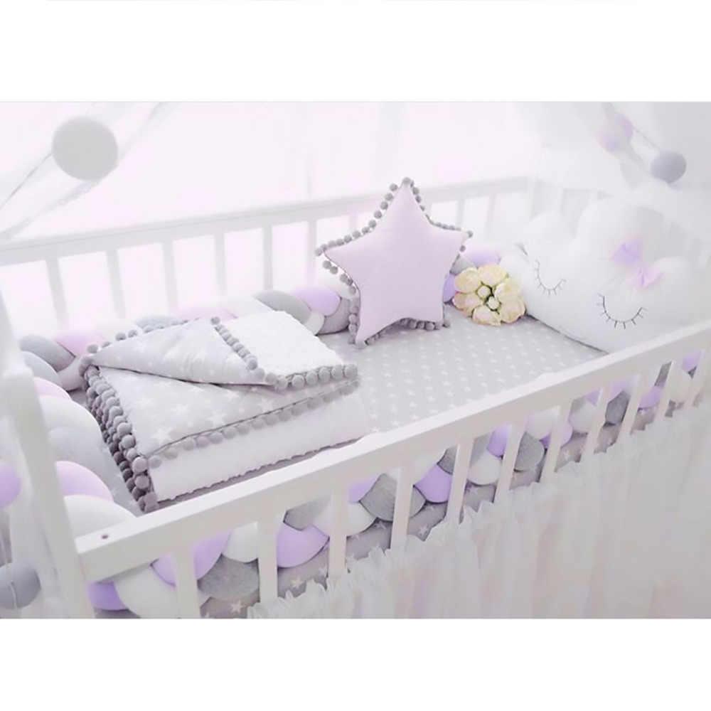 Детская кроватка бампер ручной работы длинная завязанная тесьма плетение плюшевая подушка детская колыбель детская кроватка протектор защита для малышей Детская сумка