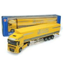 1:50 Масштаб сплав металлический контейнер грузовика-трейлера грузовой логистический автомобиль грузовик литая модель Инженерная модель автомобиля коллекции игрушек