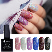 UR SUGAR Rainbow Nail Gel Polish Colorful UV LED Shimmer Pai
