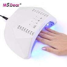 Lâmpada uv para secador de unhas led, com sensor infravermelho para manicure, ferramenta para secagem de esmalte em gel máquina de polimento