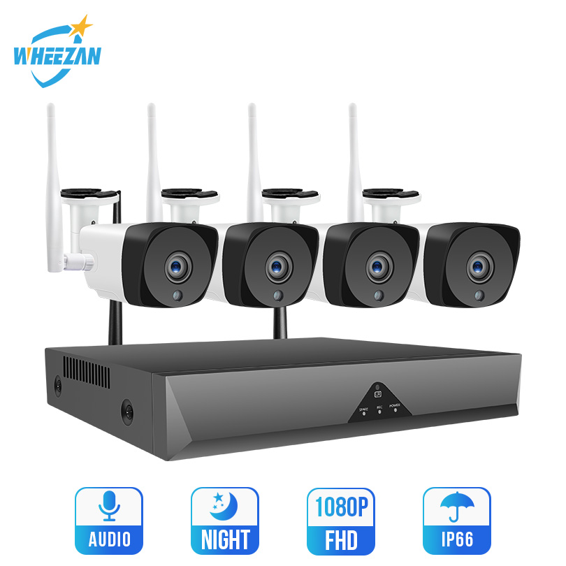 Security-System-Kit Cctv-Camera Wifi NVR Audio 1080P Home Wireless Video 1TB P2P HDD