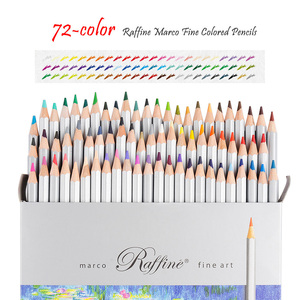 Image 3 - Marco Raffine Fine Art Colored Pencils 48/72 Color+Rubber Eraser Set+Roll UP Washable Canvas Pencil Bag Easy Carrying