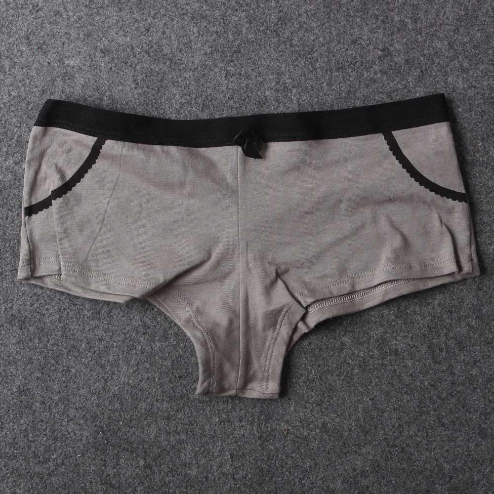 6 ชิ้น/ล็อตใหม่ฝ้ายผู้หญิงกางเกงคุณภาพสูง Boyshorts ผู้หญิงชุดชั้นในสตรีกางเกงขาสั้นเด็กหญิงเอเชียขนาด M-XL