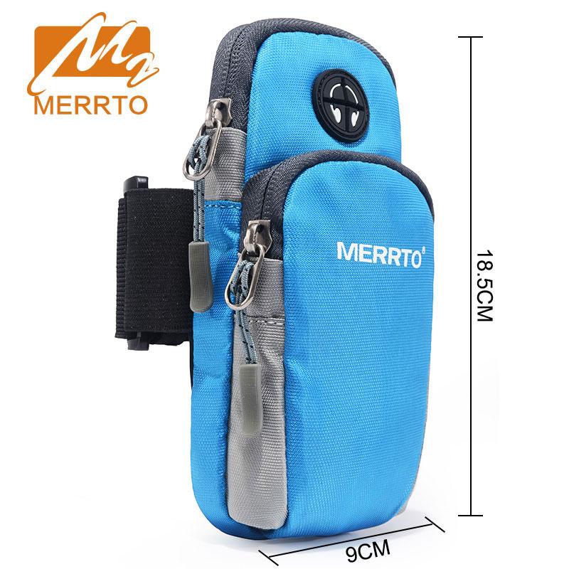 MERROT Man Outdoor Running Wrist Bag Waterproof Mobile Phone Holder Jogging Belt Bag Women Gym Fitness Bag Sport Accessories