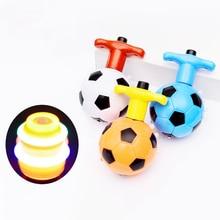 Детский светодиодный светильник Flash Music крутящиеся Топы Классические спортивные Развивающие игрушки для детей креативная Футбольная форма гироскоп подарки