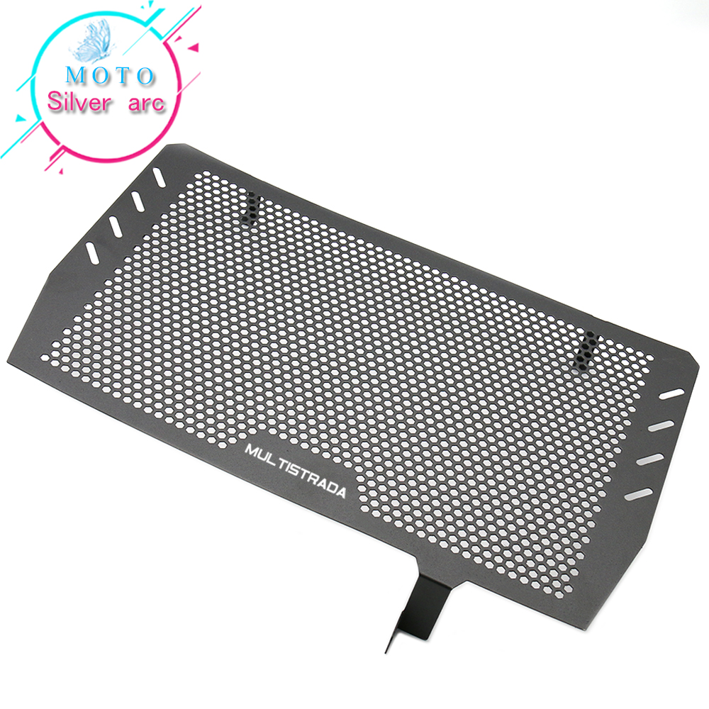 Motorcycle  Radiator Guard Grille Oil Cooler Cover  For Ducati Multistrada 1200 MTS1200 2017-2018