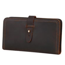 Fashion Men Wallets Genuine Leather Coin Purse Male Long Style Multi-functional Clutch Card Holder Slim Wallet Money Bag Vintage цена
