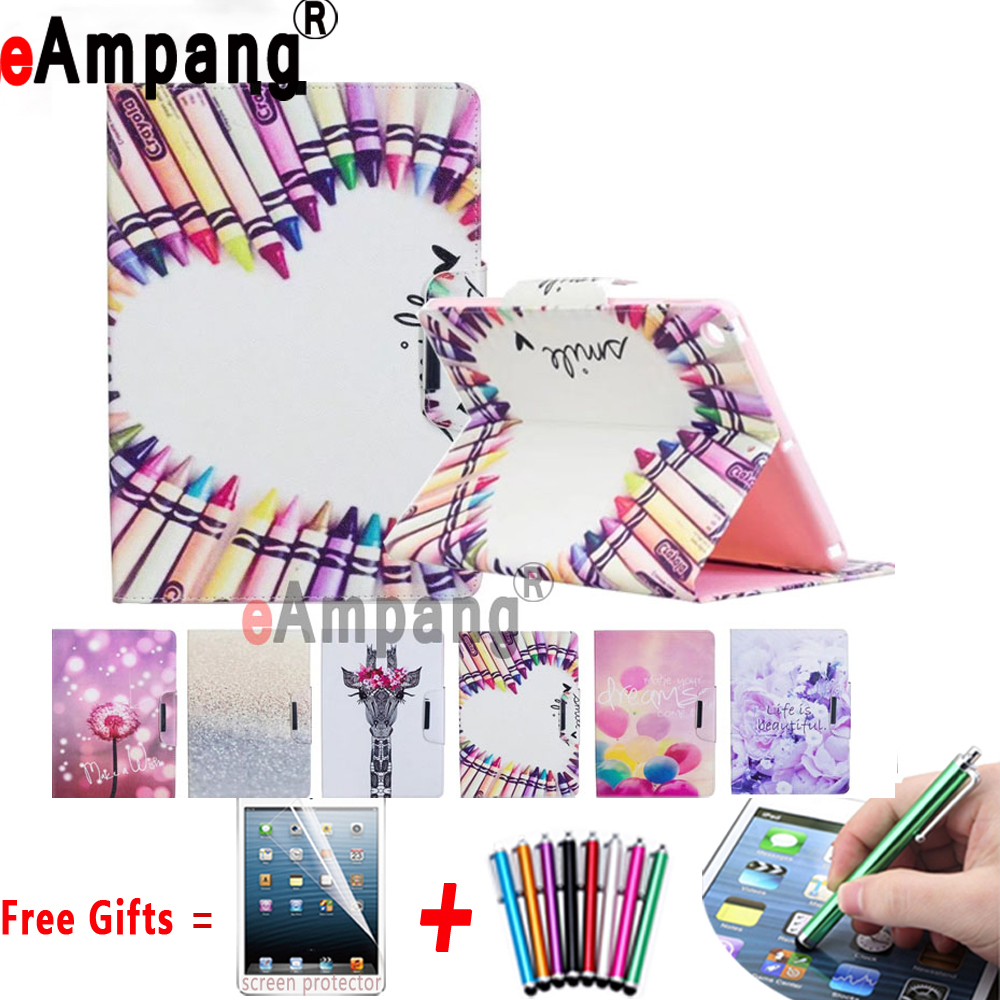 Print Buckle PU Leather with Soft Silicon Cover Tablet Case for Apple iPad 2 3 4 9.7inch Case Coque Capa Funda with Stand Holder alabasta for capa ipad pro 9 7 case 2016 release coque pu leather skin rhinestone bag tablet case smart stand cover with stylus