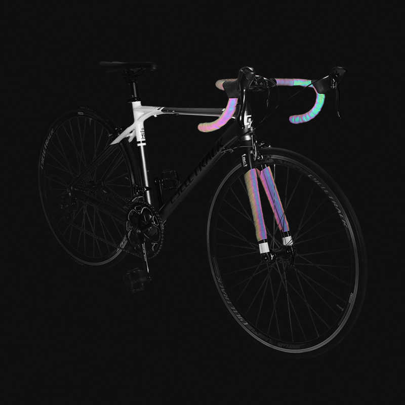 E Cycling Bicycle Handlebar Tape Light Reflective Bike Bar Tape Wrap Pu L Y pt