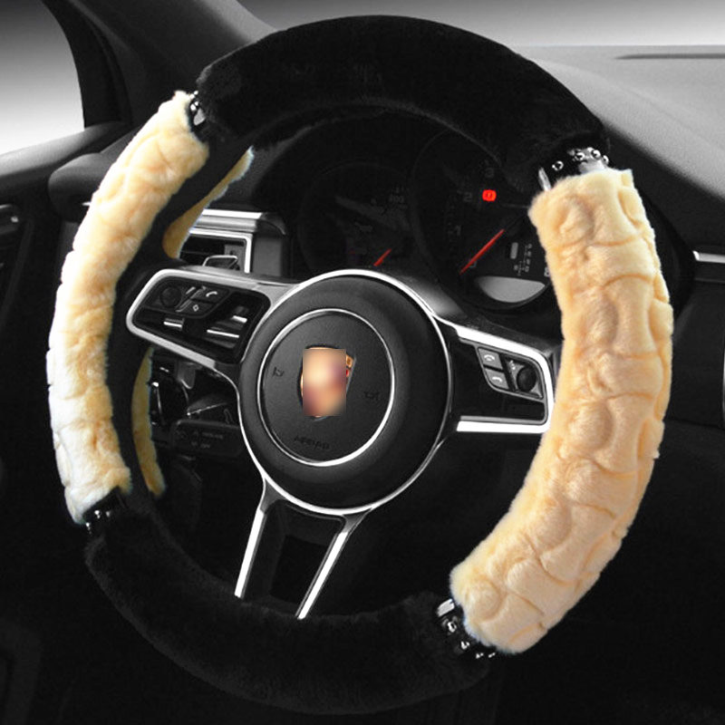 TENGRUI Car Steering Wheel Cover for hyundai getz/creta/ solaris/ ix25/elantra/i30 Wheel Covers Steering Wheel direksiyon seti