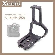 Xiletu lb-d500lbg profissional placa l/tripé e uma bola de cabeça montar 1/4 interface de 3/8 polegadas padrão arca para nikon d500