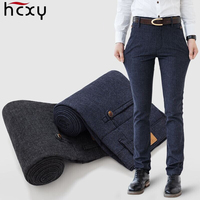 HCXY Brand New Men's Pants Straight Loose Casual Trousers Cotton fabric Fashion Men's Business Male Pants Size 40 free delivery