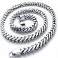 De Calidad superior Para Hombre Figaro Curb Cadena de Plata A Granel Tono Completo Hombre De Acero Inoxidable 316L Collar Hombres Joyería de Moda 3-6 MM 18-30 pulgadas