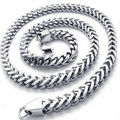 Top Quality Mens Curb Figaro Bulk Chain Silver Tone Full 316L Stainless Steel Male Necklace Men Fashion Jewelry 3-6MM 18-30 Inch