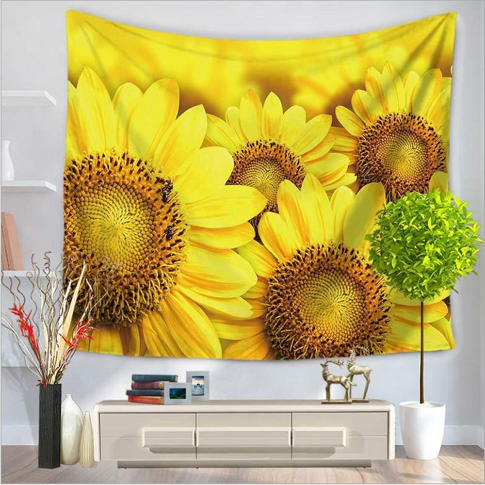 Home Decor Polyester Fabric Star jungle Tapestry Wall Hanging Throw ...