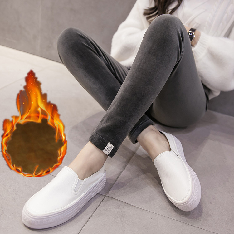 Pregnant women pants autumn and winter clothes gold velvet belly pants thickening plus cashmere pregnant women leggings