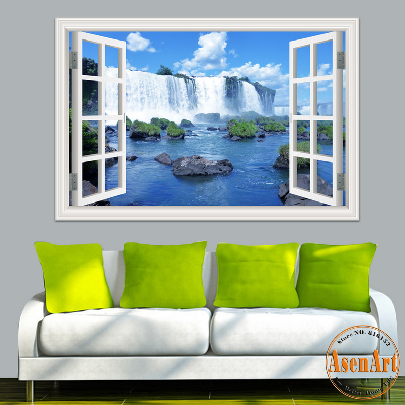 3d window view wall sticker decal sticker home decor for 3d mural wall art
