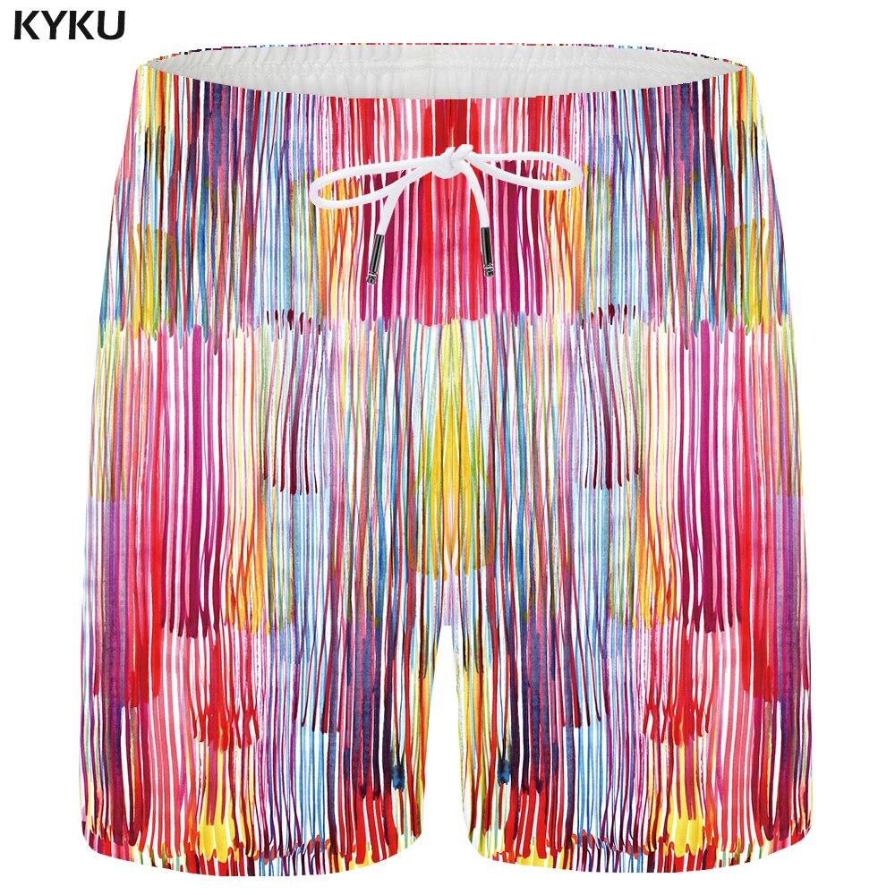 KYKU Ocean Shorts Men Water Beach Shorts Casual 3d Print Cargo Short Summer Hip Hop Blue Mens Short Pants 2018 New High Quality