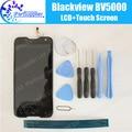 Garantia 100% original blackview bv5000 display lcd + touch screen 1280x720 5.0 de polegada de montagem para blackview bv5000 + ferramentas gratuitas