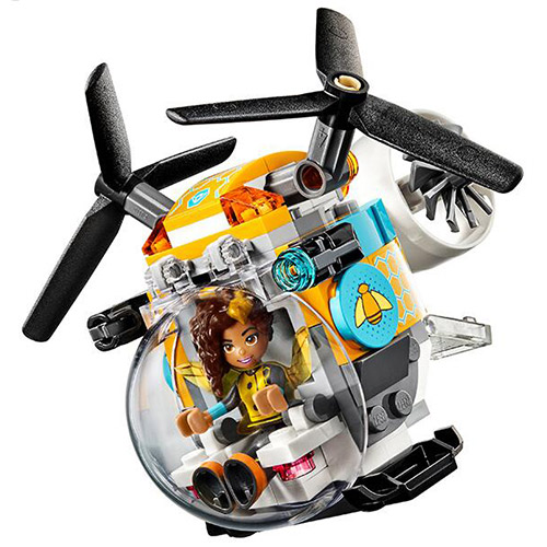 10614 Bela DC Super Hero Girl Bumblebee Helicopter Crystal Model Building Block Bricks Toys Gift For Children Wonder Woman 41234 transformers маска bumblebee c1331