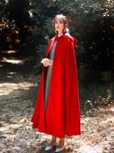 Women Hooded Elegant Long Wool Blend Coats Winter Overcoat Cloaks Capes H55