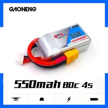 Gaoneng GNB 550mAh 14.8V 4S 80C/160C Lipo battery with XT30 JST XT60 Plug for FPV Racing Drone RC Qu