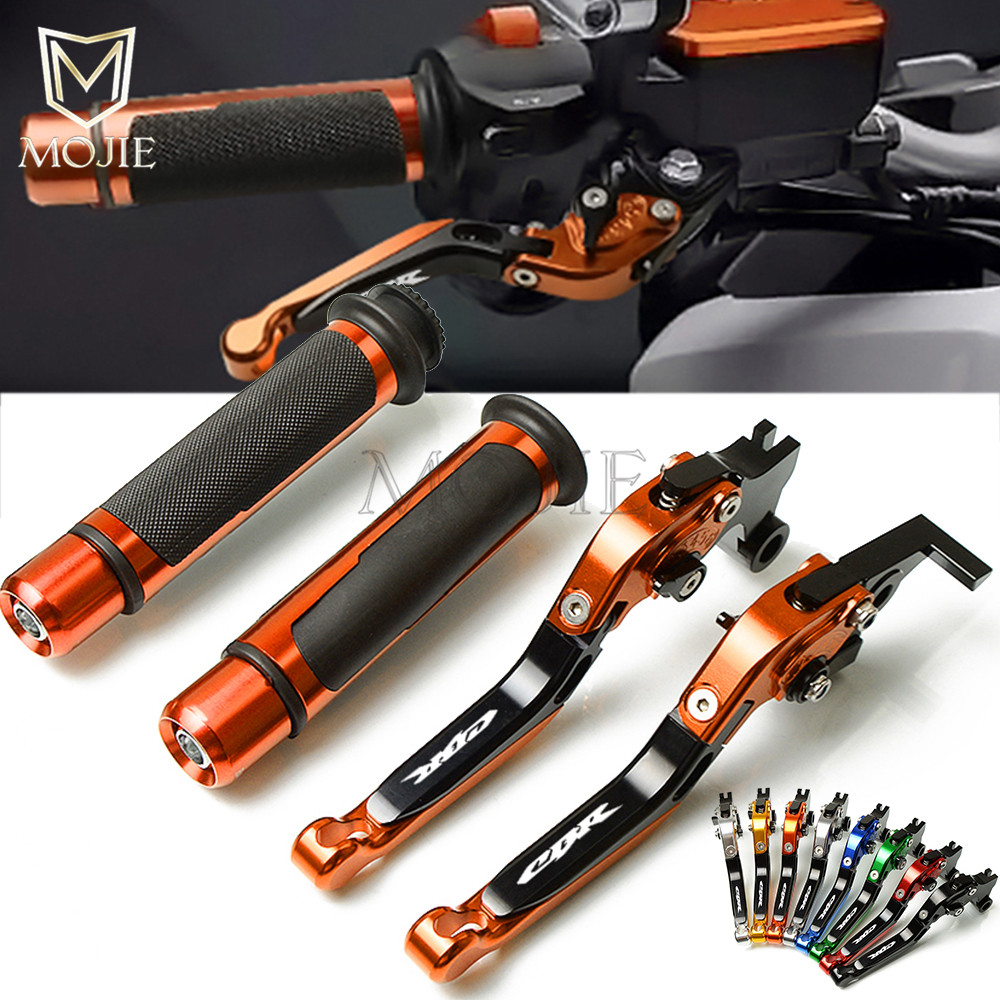 Motorcycle CNC Adjustable Foldable Brake Clutch Lever Handle Grips For Honda CBR 600 F2 F3 F4