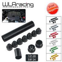 Livraison gratuite-aluminium 1/2-28 ou 5/8-24 filtre à carburant de voiture 1X7 ou 1X13 piège à solvant de voiture pour NAPA 4003 WIX 24003