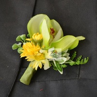 Corsage Accessories Decoration Bridesmaid  Wedding Groom Groomsman Boutonnieres Pin Brooch Artificial Mix Match Colors orchid