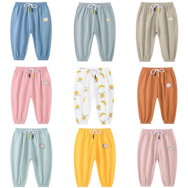 Candy Color Baby boys Harem Pants Cotton Casual Loose Trousers Summer Girls Bottoms Harem Long Pants Anti-mosquito Clothes 1-5YCandy Color Baby boys Harem Pants Cotton Casual Loose Trousers Summer Girls Bottoms Harem Long Pants Anti-mosquito Clothes 1-5Y