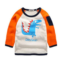 New Boys Dinosaur T Shirts Baby Clothes Boys Spring Autumn Fashion Character Style Long Sleeve T Shirts Lovely Cute Costume