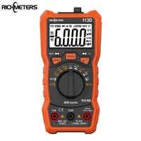 Multímetro Digital RM113D NCV multímetro Digital 6000 cuentas medidor de voltaje CA/CC luz de Flash luz de fondo pantalla grande 113A/D