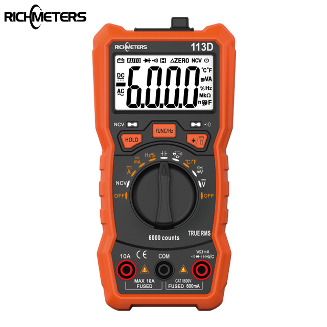 Digital Multimeter 6000 counts Auto Ranging AC/DC Large Screen