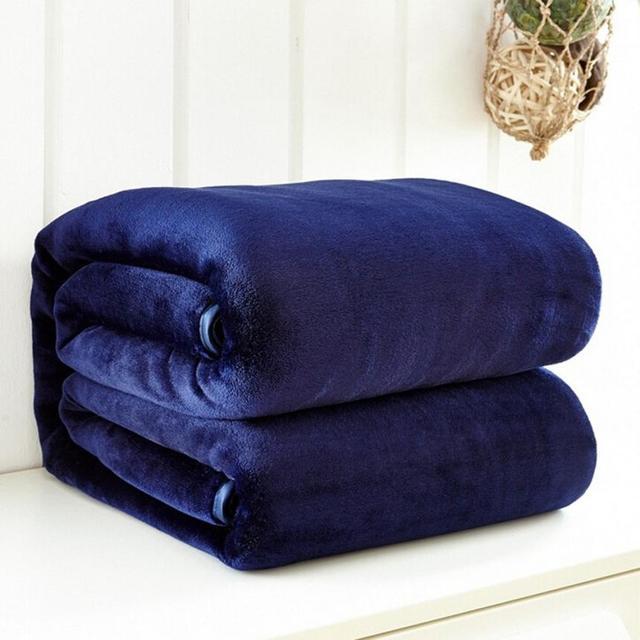 50*70 см Малый супер мягкий Одеяло теплые однотонные теплые Micro плюшевые Флисовое одеяло бросить ковер диван Постельное белье Офис Применение 23
