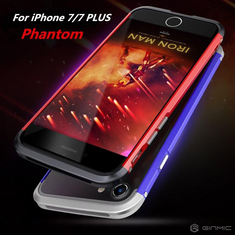 For iPhone 7 Plus Bumper For iPhone 7 Case Luxury GINMIC Armor Aluminum Screw Case Metal