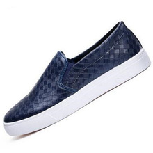 Summer youth men's fashion.leather shoes men Classical Comfortable Casual shoes lazy men hollow breathable low vamp skate shoes