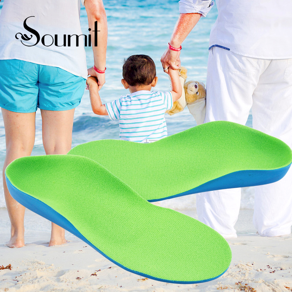 Soumit TPE PP Plastic High Arch Support Orthotics Flat Feet Corrective Insoles Shock Absorption Shoe Pads